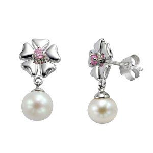 JSK Jewellery, Silver Earrings, Pearl Earrings